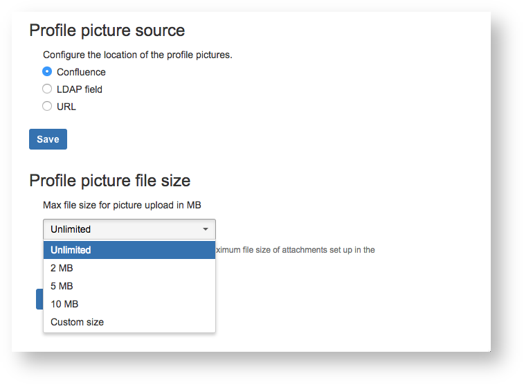 Configure your Profile Picture sources and size